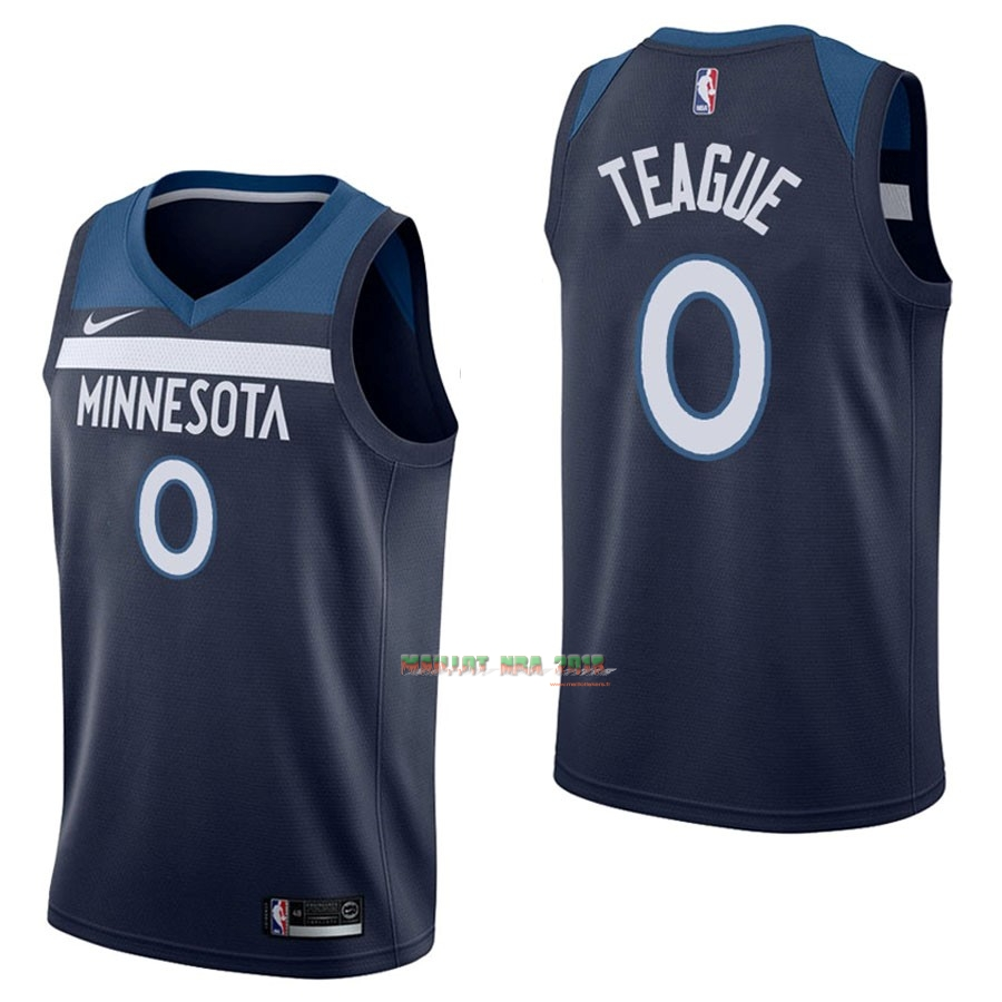 Maillot NBA Nike Minnesota Timberwolves NO.0 Jeff Teague Marine Icon