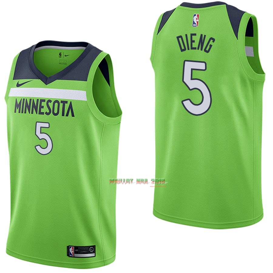 Maillot NBA Nike Minnesota Timberwolves NO.5 Gorgui Dieng Vert Statement