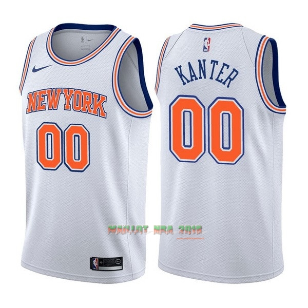 Maillot NBA Nike New York Knicks NO.0 Enes Kanter Blanc Statement