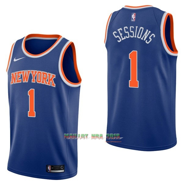 Maillot NBA Nike New York Knicks NO.1 Ramon Sessions Bleu Icon