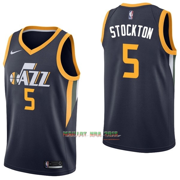Maillot NBA Nike Utah Jazz NO.5 David Stockton Marine Icon