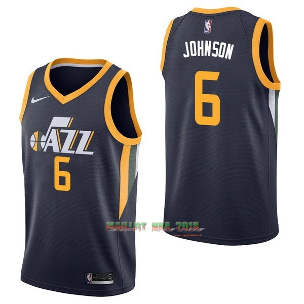 Maillot NBA Nike Utah Jazz NO.6 Joe Johnson Marine Icon