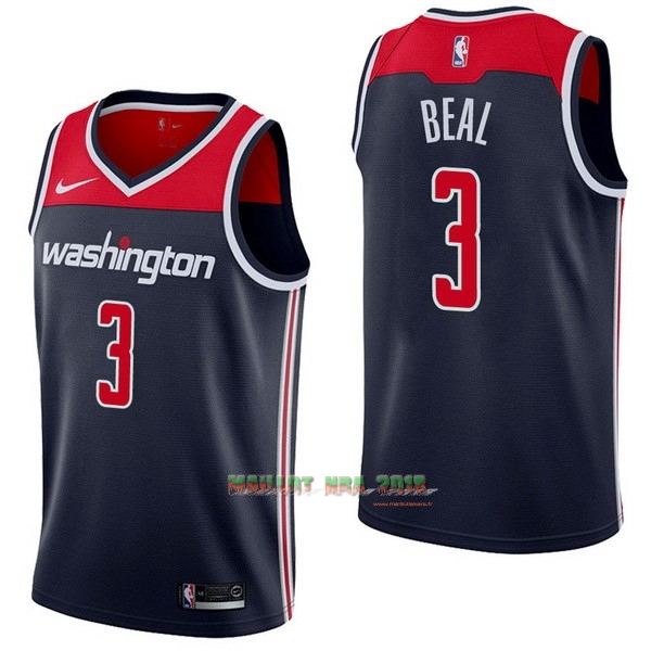 Maillot NBA Nike Washington Wizards NO.3 Bradley Beal Marine Statement