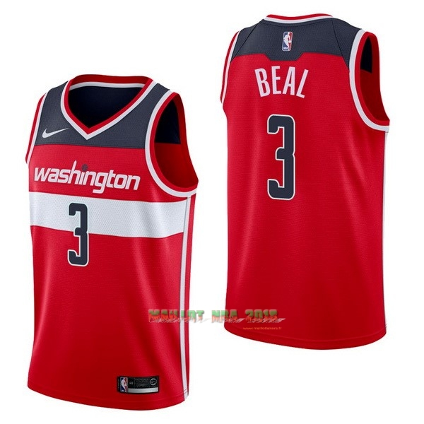 Maillot NBA Nike Washington Wizards NO.3 Bradley Beal Rouge Icon