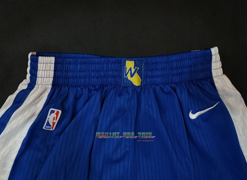 Short Basket Golden State Warriors Nike Bleu