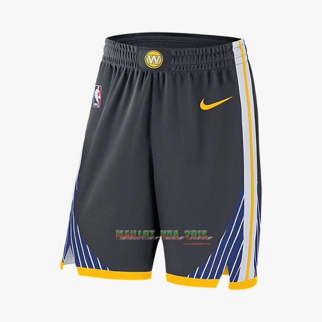 Short Basket Golden State Warriors Nike Noir