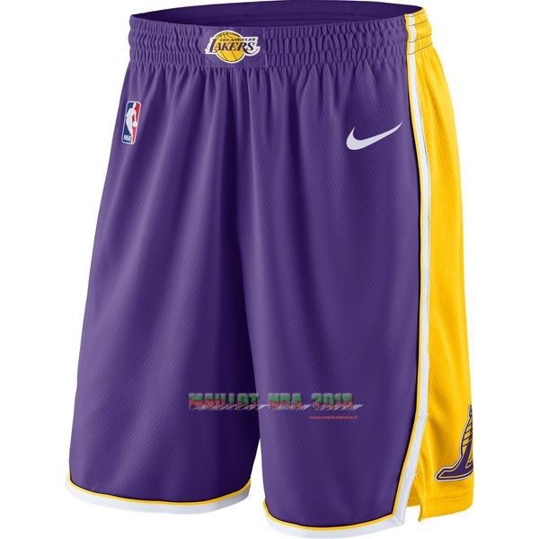Short Basket Los Angeles Lakers Nike Pourpre