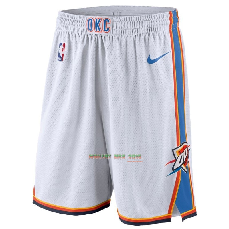 Short Basket Oklahoma City Thunder Nike Blanc