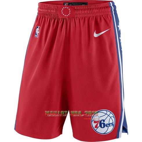 Short Basket Philadelphia Sixers Nike Rouge