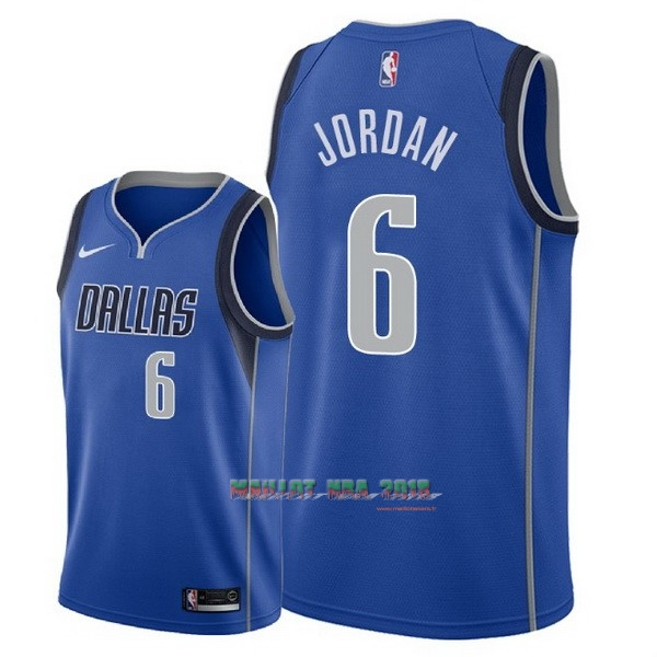 Maillot NBA Nike Dallas Mavericks NO.6 DeAndre Jordan Bleu Icon 2018