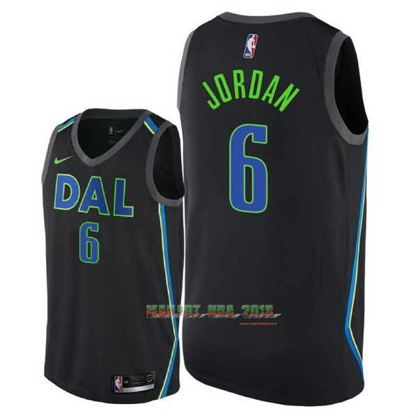 Maillot NBA Nike Dallas Mavericks NO.6 DeAndre Jordan Nike Noir Ville 2018