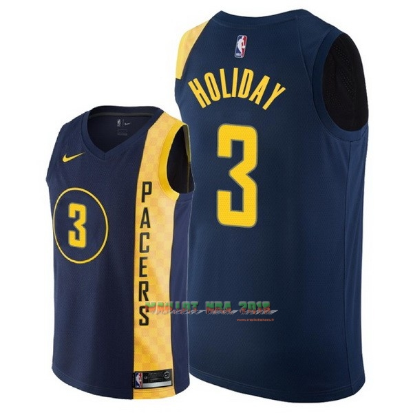 Maillot NBA Nike Indiana Pacers NO.3 Aaron Holiday Nike Marine Ville 2018