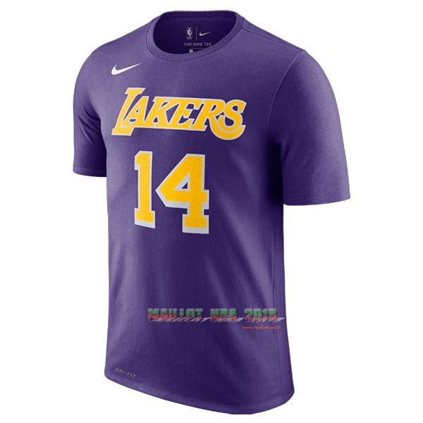 Maillot NBA Nike Los Angeles Lakers Manche Courte NO.14 Brandon Ingram Pourpre Statement 2018-19