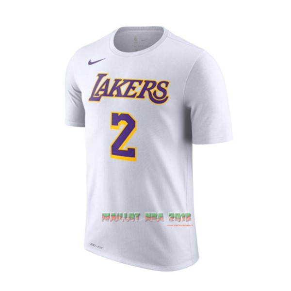 Maillot NBA Nike Los Angeles Lakers Manche Courte NO.2 Lonzo Ball Blanc Association 2018-19