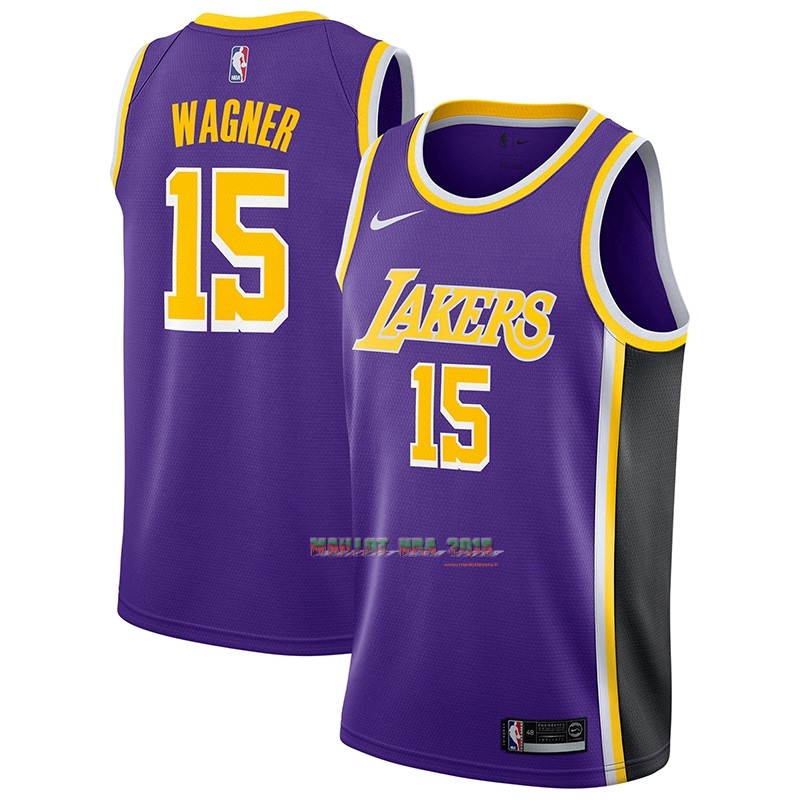 Maillot NBA Nike Los Angeles Lakers NO.15 Moritz Wagner Pourpre Statement 2018-19