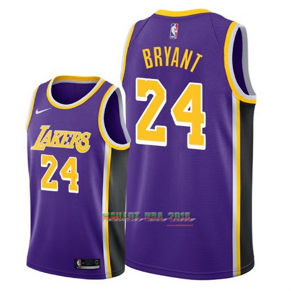 Maillot NBA Nike Los Angeles Lakers NO.24 Kobe Bryant Pourpre Statement 2018-19