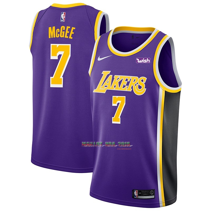 Maillot NBA Nike Los Angeles Lakers NO.7 JaVale McGee Pourpre 2018-19