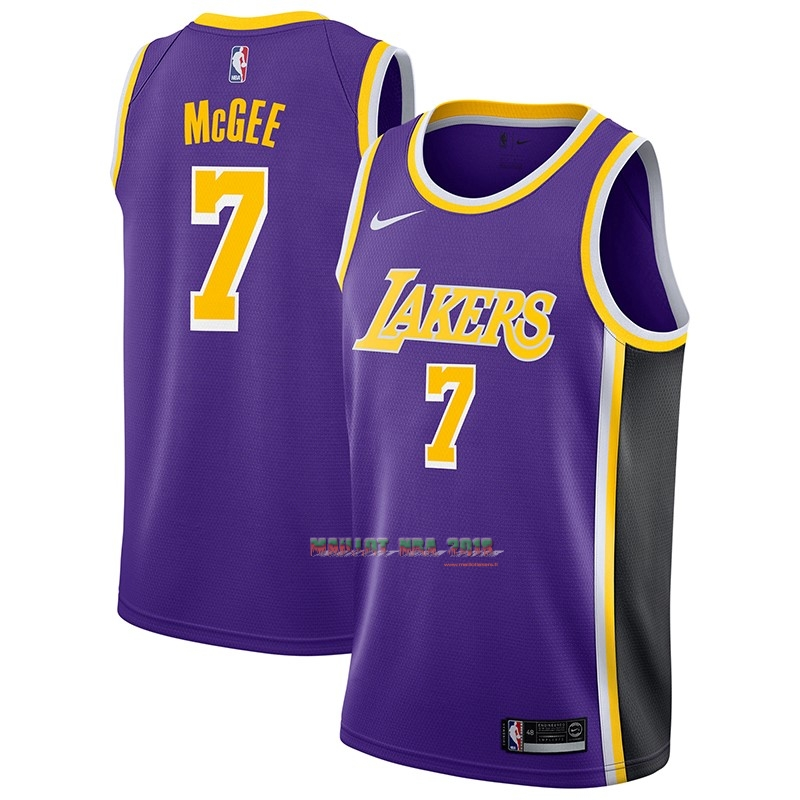 Maillot NBA Nike Los Angeles Lakers NO.7 JaVale McGee Pourpre Statement 2018-19