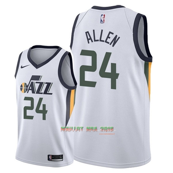 Maillot NBA Nike Utah Jazz NO.24 Grayson Allen Blanc Association 2018