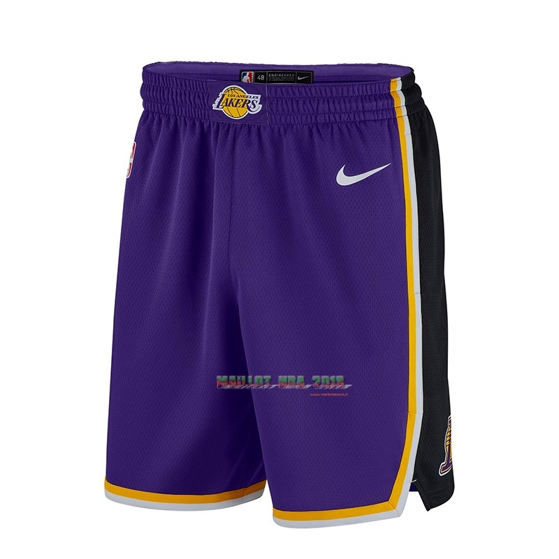 Short Basket Los Angeles Lakers Nike Pourpre 2018-19