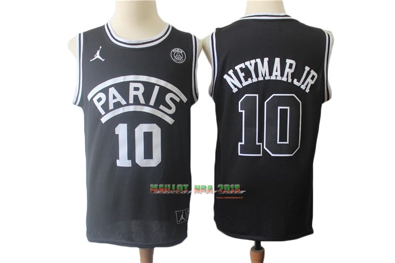 Maillot Collaboration Maillot Basket-ball Jordan x Paris Saint-Germain NO.10 Neymar Jr Noir