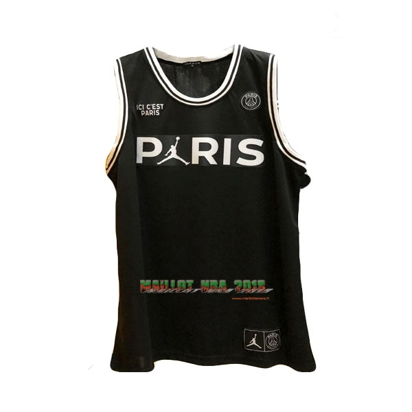 Maillot Collaboration Maillot Basket-ball Jordan x Paris Saint-Germain NO.23 Jordan Noir