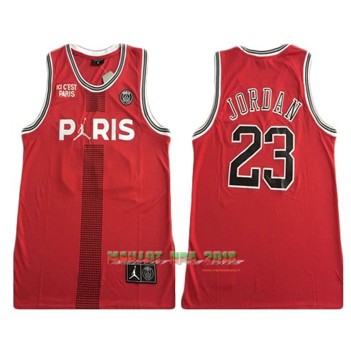 Maillot Collaboration Maillot Basket-ball Jordan x Paris Saint-Germain NO.23 Jordan Rouge