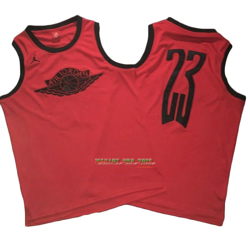 Maillot NBA Chicago Bulls NO.23 Michael Jordan Flying Wing Logo Rouge