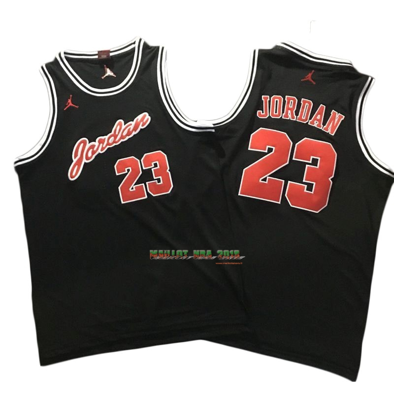 Maillot NBA Chicago Bulls NO.23 Michael Jordan Noir Rouge Blanc