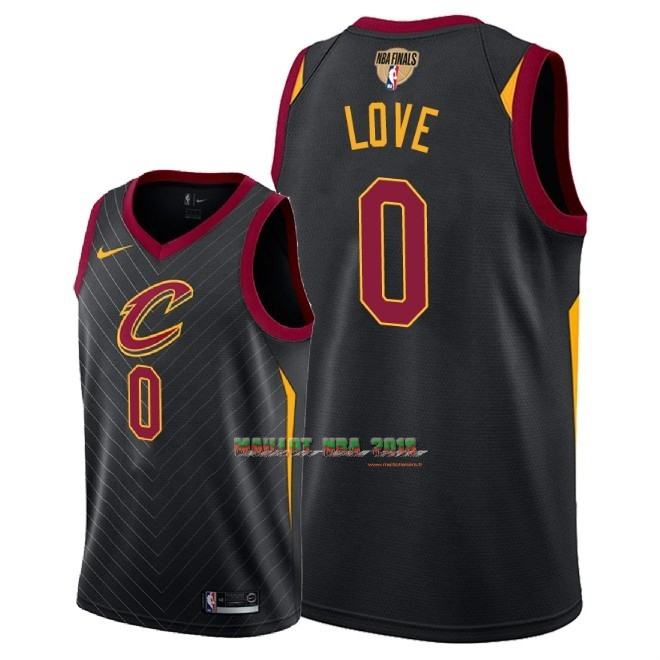 Maillot NBA Cleveland Cavaliers 2018 Final Champions NO.0 Kevin Love Noir Statement Patch