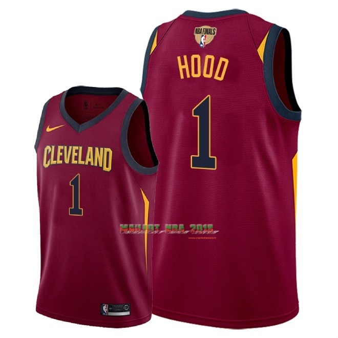 Maillot NBA Cleveland Cavaliers 2018 Final Champions NO.1 Rodney Hood Rouge Icon Patch