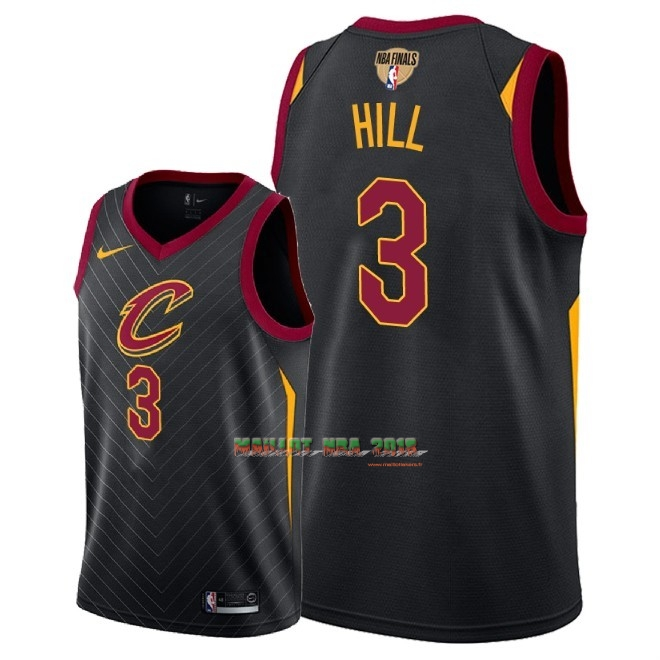 Maillot NBA Cleveland Cavaliers 2018 Final Champions NO.3 George Hill Noir Statement Patch