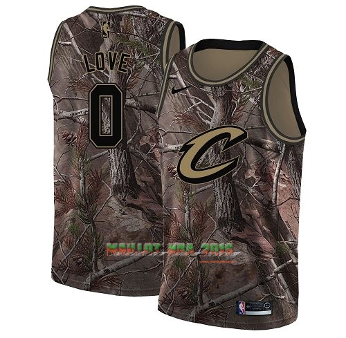 Maillot NBA Cleveland Cavaliers NO.0 Kevin Love Camo Swingman Collection Realtree 2018