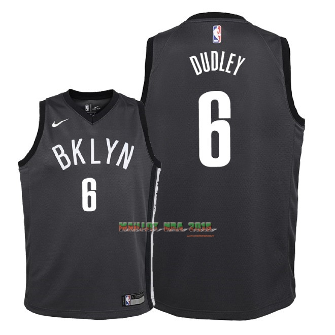 Maillot NBA Enfant Brooklyn Nets NO.6 Jared Dudley Noir Statement 2018