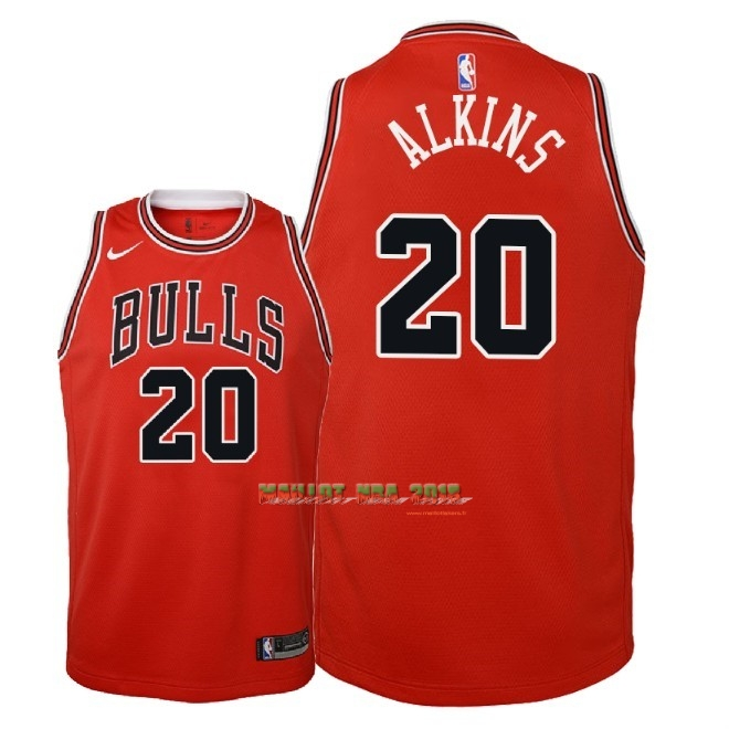 Maillot NBA Enfant Chicago Bulls NO.20 Rawle Alkins Rouge Icon 2018