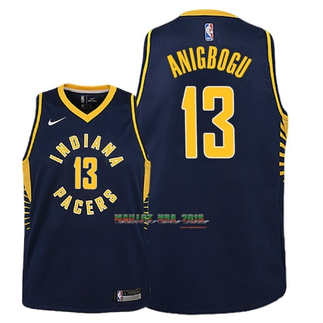 Maillot NBA Enfant Indiana Pacers NO.13 Ike Anigbogu Marine Icon 2018-19