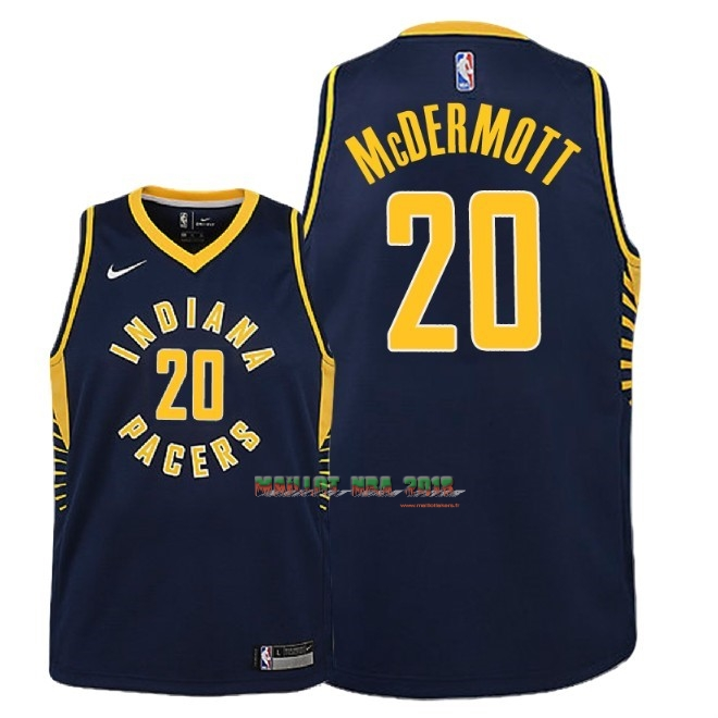 Maillot NBA Enfant Indiana Pacers NO.20 Doug McDermott Marine Icon 2018-19