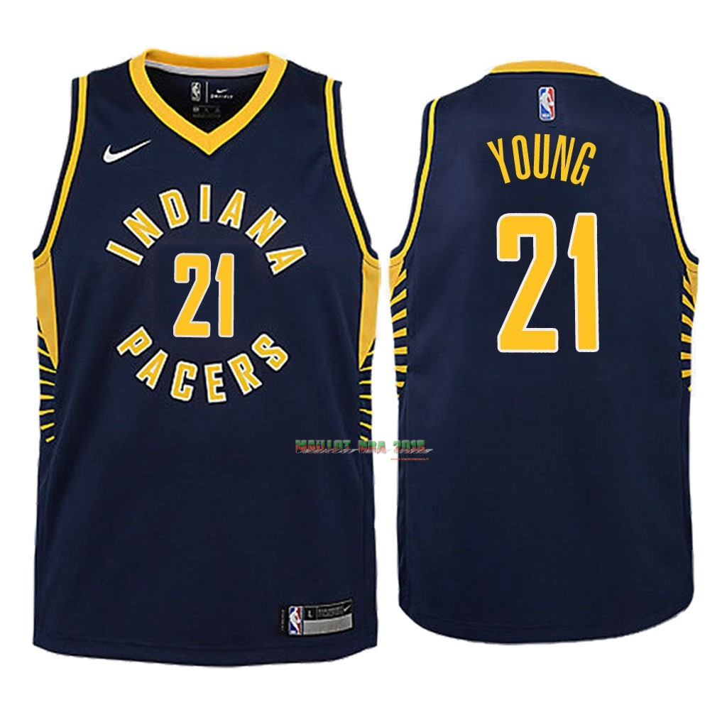 Maillot NBA Enfant Indiana Pacers NO.21 Thaddeus Young Marine Icon 2018