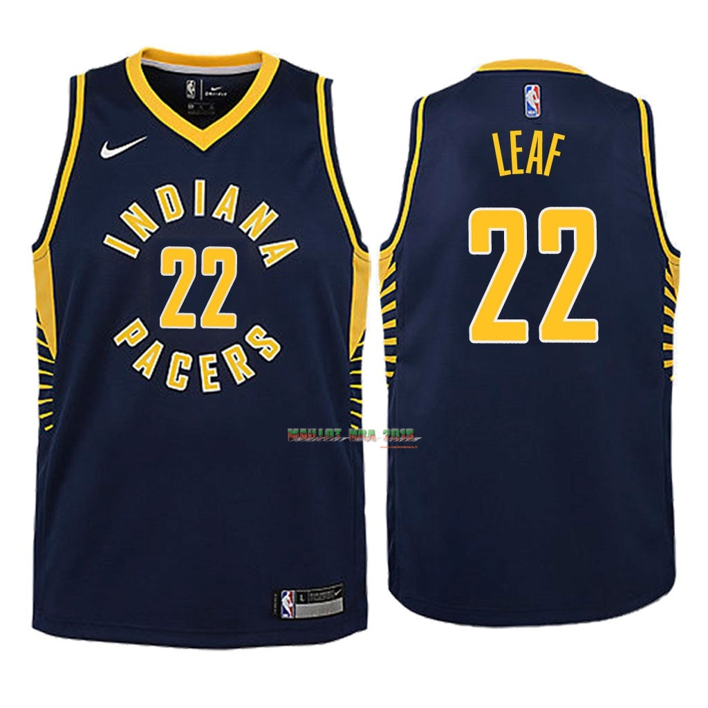 Maillot NBA Enfant Indiana Pacers NO.22 T.J. Leaf Marine Icon 2018