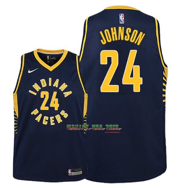 Maillot NBA Enfant Indiana Pacers NO.24 Alize Johnson Marine Icon 2018-19
