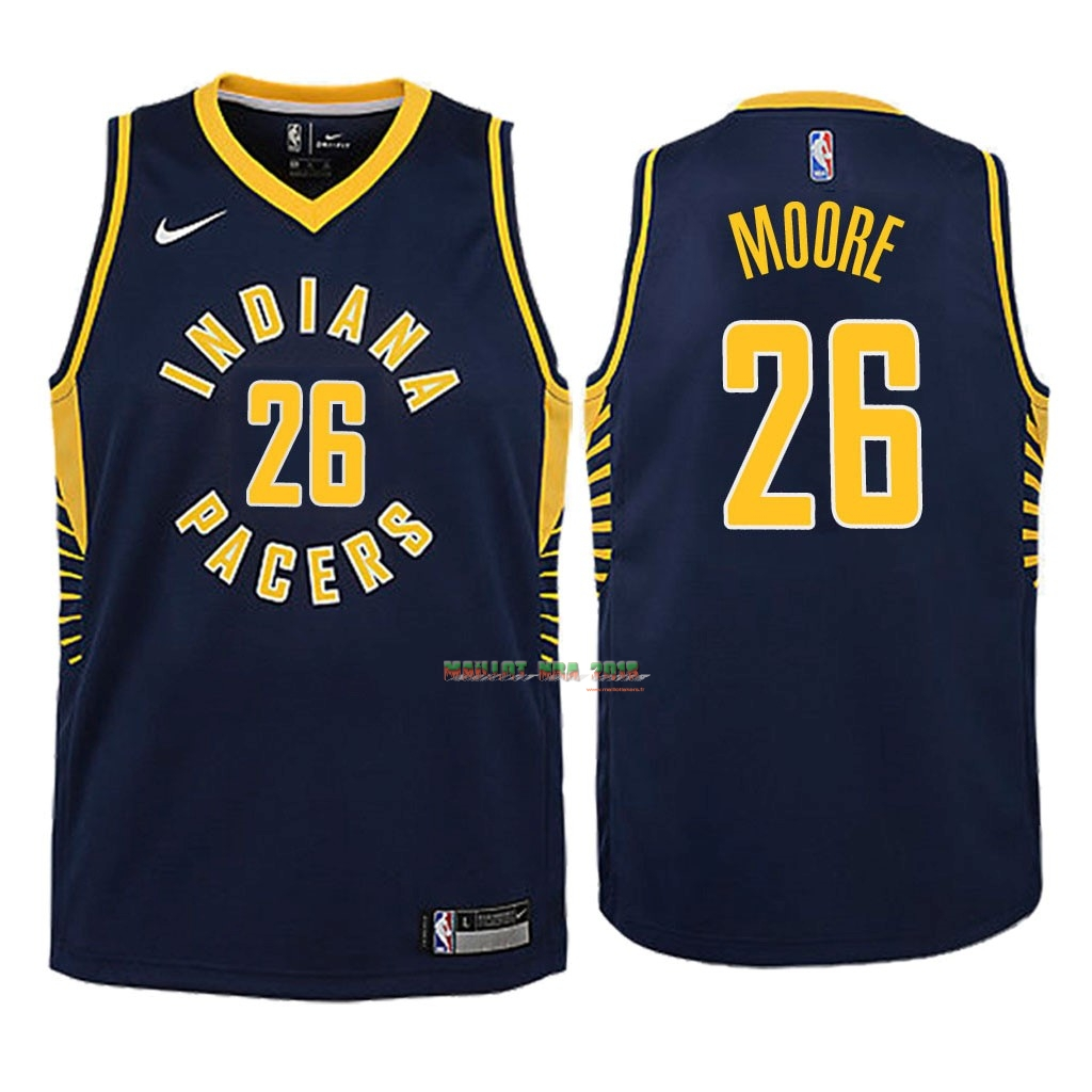 Maillot NBA Enfant Indiana Pacers NO.26 Ben Moore Marine Icon 2018