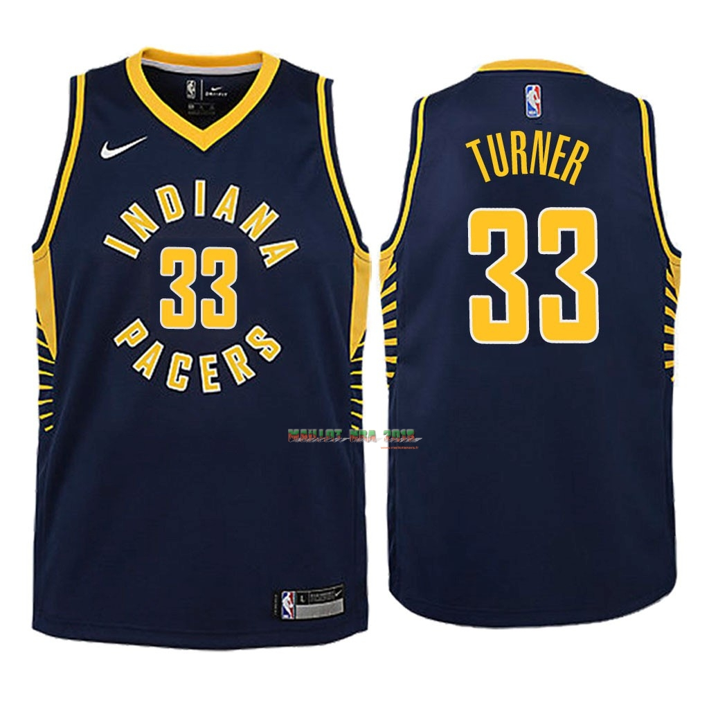 Maillot NBA Enfant Indiana Pacers NO.33 Myles Turner Marine Icon 2018