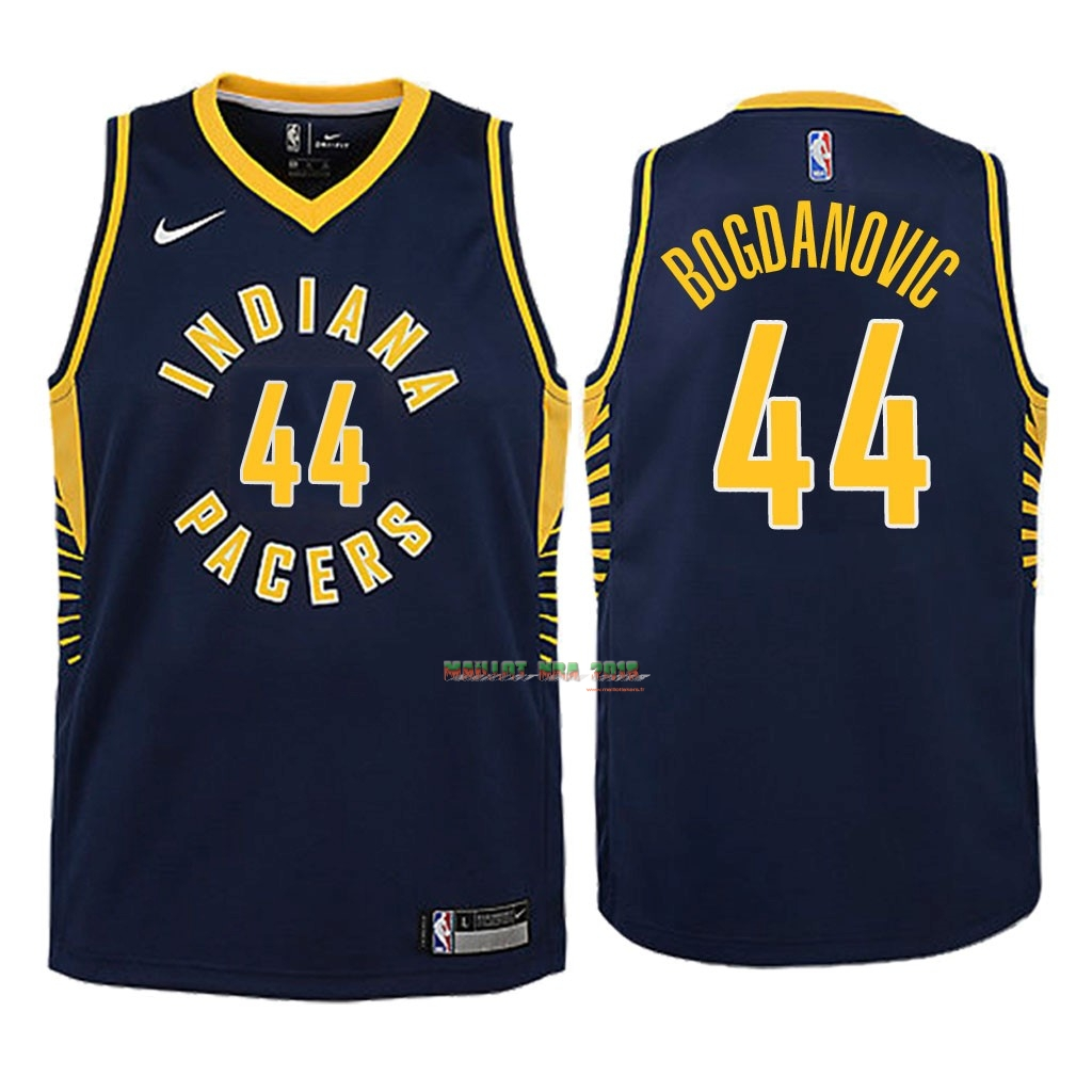 Maillot NBA Enfant Indiana Pacers NO.44 Bojan Bogdanovic Marine Icon 2018