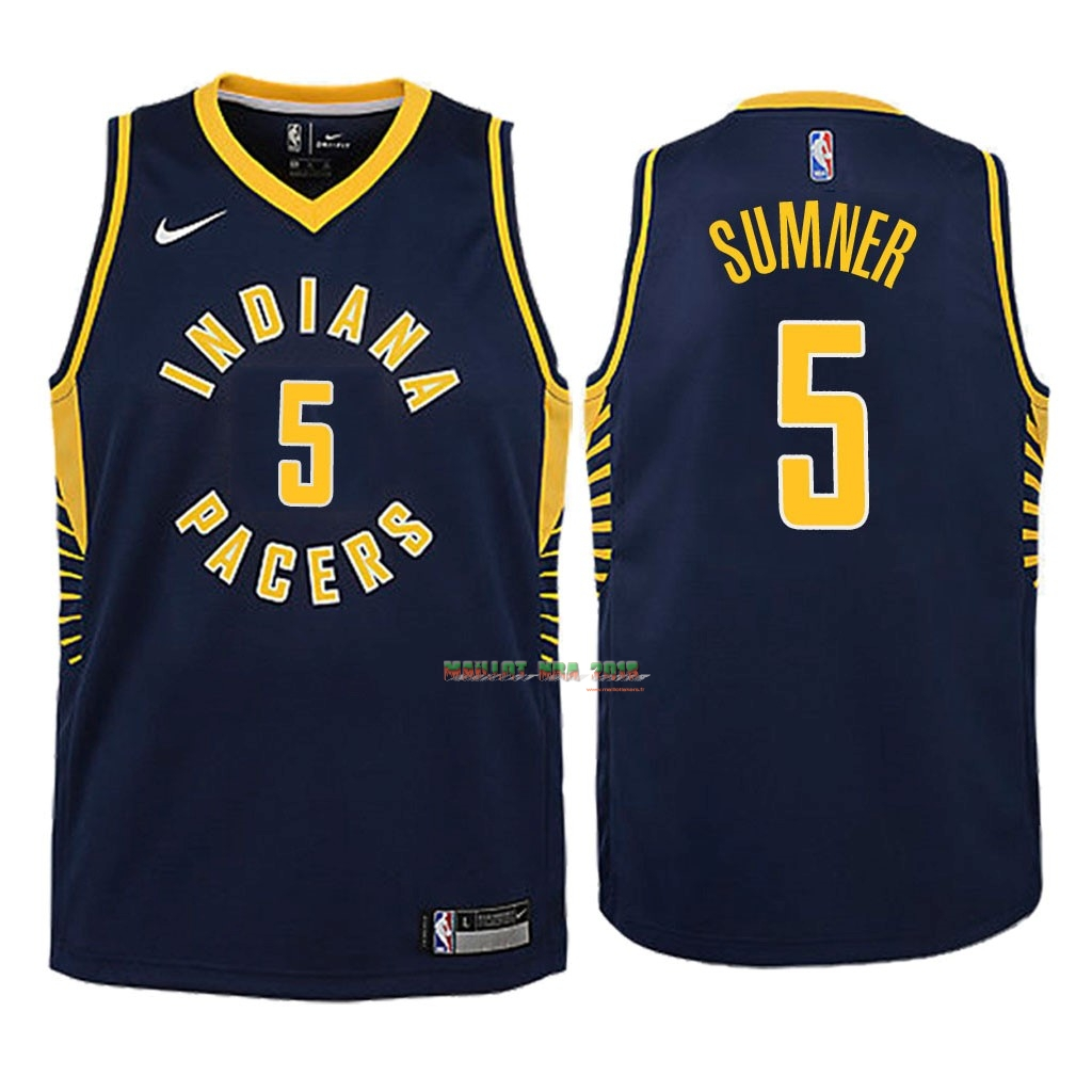 Maillot NBA Enfant Indiana Pacers NO.5 Edmond Sumner Marine Icon 2018