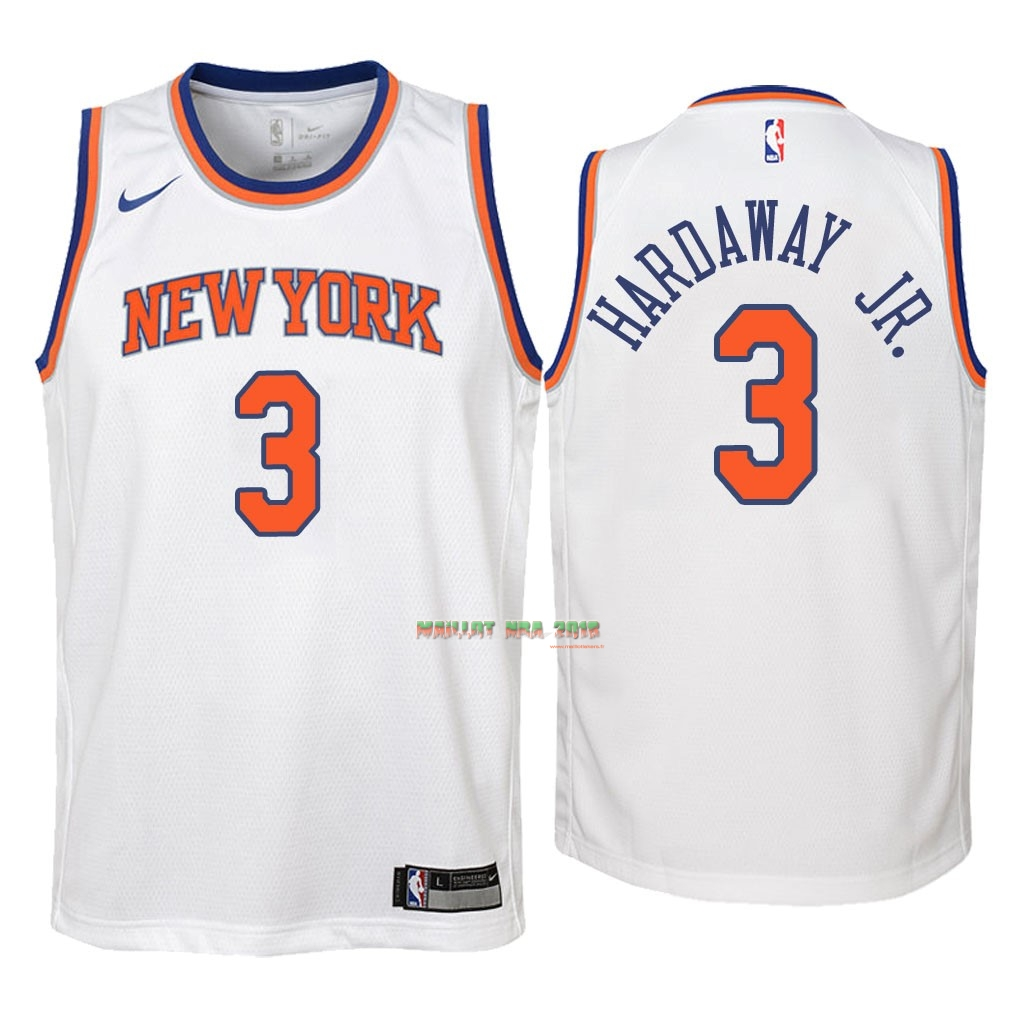 Maillot NBA Enfant New York Knicks NO.3 Tim Hardaway Jr Blanc Association 2018