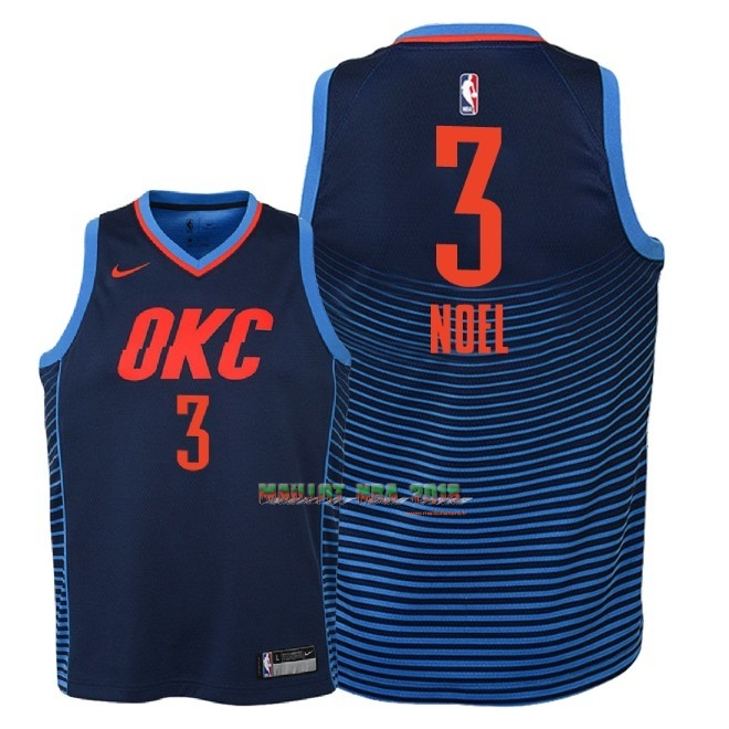Maillot NBA Enfant Oklahoma City Thunder NO.3 Nerlens Noel Marine Statement 2018