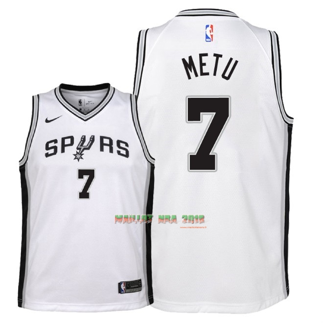 Maillot NBA Enfant San Antonio Spurs NO.7 Chimezie Metu Blanc Association 2018