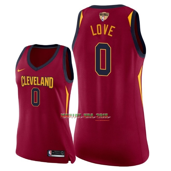 Maillot NBA Femme Cleveland Cavaliers 2018 Final Champions NO.0 Kevin Love Rouge Icon Patch