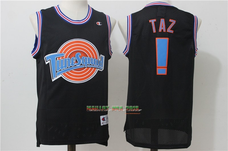 Maillot NBA Film Basket-Ball Tune Escuadra NO.! Taz Noir