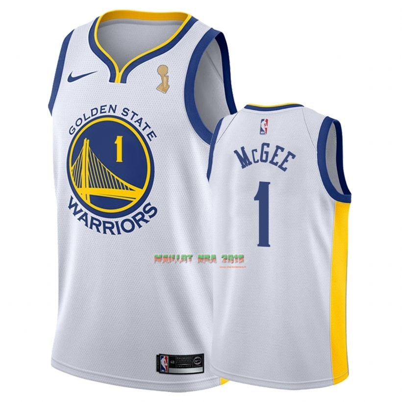 Maillot NBA Golden State Warriors 2018 Final Champions NO.1 JaVale McGee Blanc